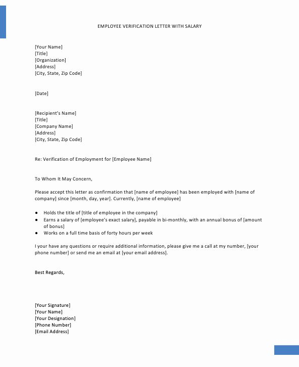 Employment Verification Letter Template Word Awesome Confirmation Employment Letter For Bank Letter Template Word Letter Templates Lettering