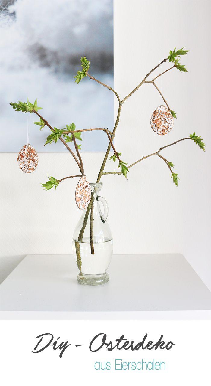 Dani von Gingered Things zeigt dir wie du aus Papier und Eierschalen eine minimalistische und natürliche Osterdeko basteln kannst.