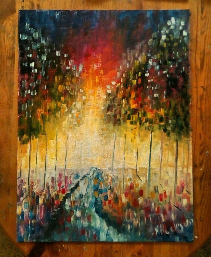 "'Forest Sunrise' Original Oil Painting 16"" x12"""
