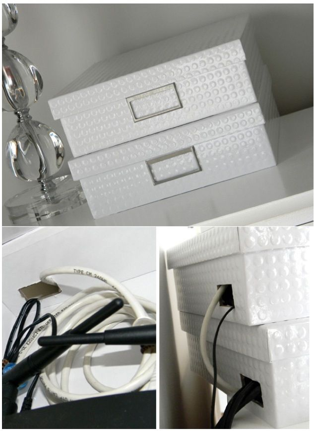 Hide cords in nice boxes!