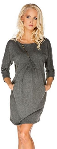 sukienka ciążowa paula szara # xl