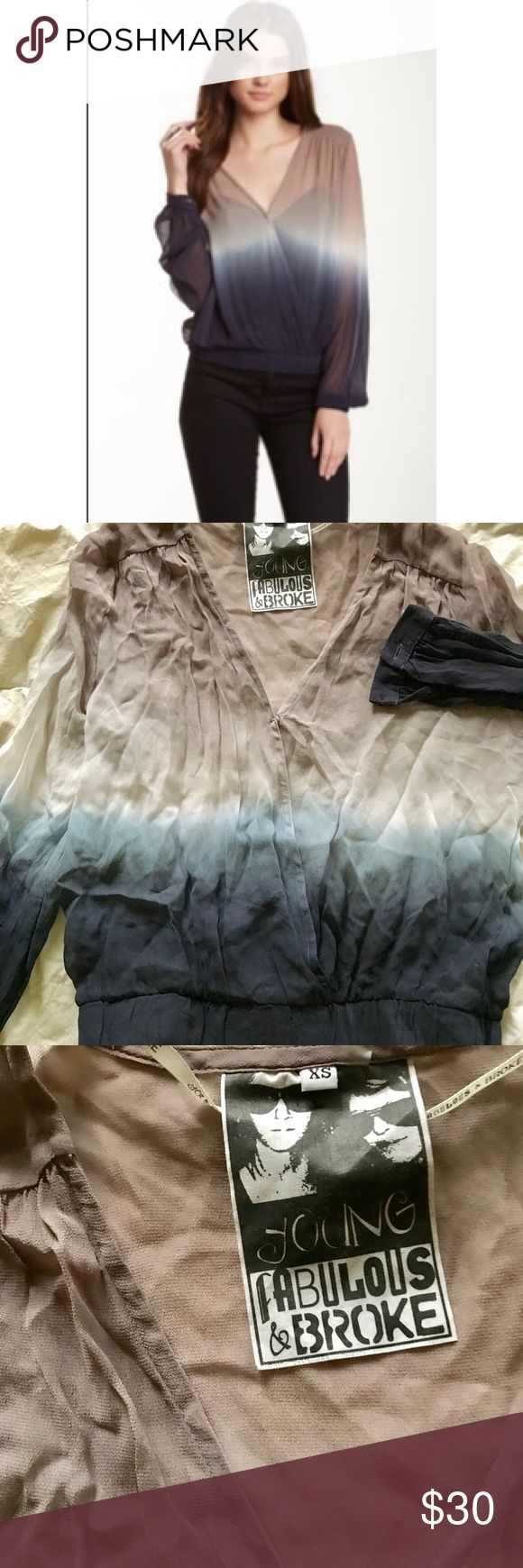 """Young Fabulous and Broke """"Astrid"""" Blouse Young Fabulous and Broke """"Astrid"""" Blouse. Size XS. Never worn. I did have to fix the clasp in the middle of the blouse (see picture). Young Fabulous & Broke Tops Blouses"""