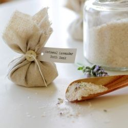 Get your skin ready for spring with homemade Oatmeal Lavender Bath Soak.
