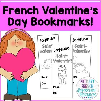 French Valentine's Day Bookmarks / Cards - FREE