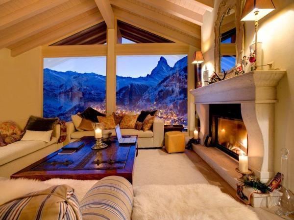 Chalet Grace Winter Chalets Swiss Alps Zermatt- ideas for a ski chalet living room