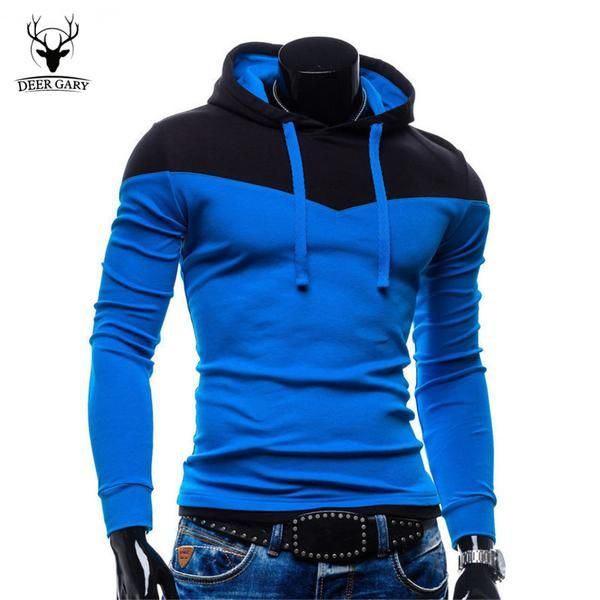 Men's Fashion Hoodies Patchwork Two Colors Napping Sweatshirt Coat - 6 Color Styles-Men's Tops-Wickydeez