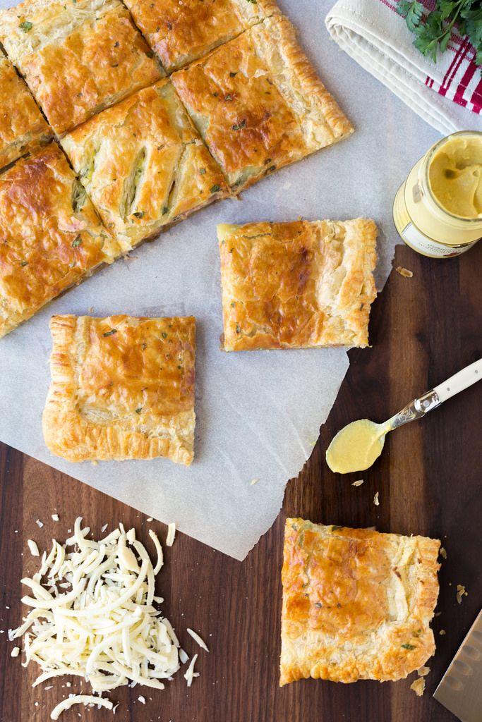Ham and Swiss Slab Pie   Striped Spatula
