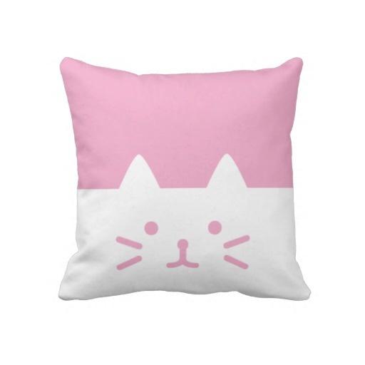 pink cat pillows