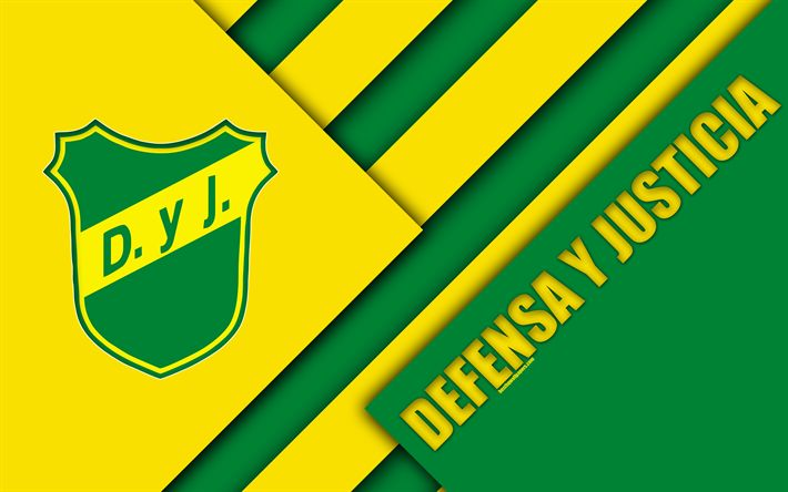 Download wallpapers Defensa y Justicia, Argentine football club, 4k, material design, yellow green abstraction, Buenos Aires, Florencio-Varela, Argentina, football, Argentine Superleague, First Division