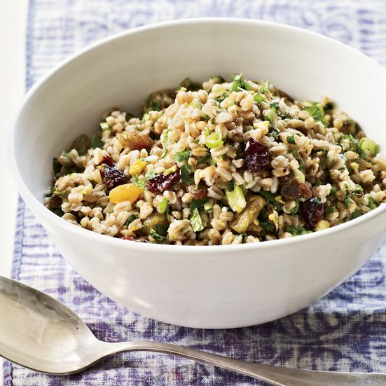 Farro Salad with Winter Fruit, Pistachios and Ginger Recipe - Annie Somerville | Food & Wine