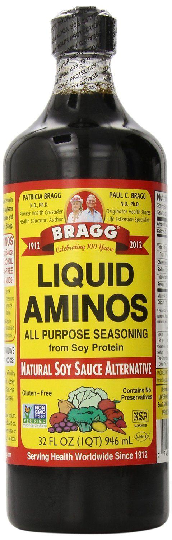 Amazon.com : Bragg Liquid Aminos, All Purpose Seasoning, 32 fl oz : Grocery & Gourmet Food