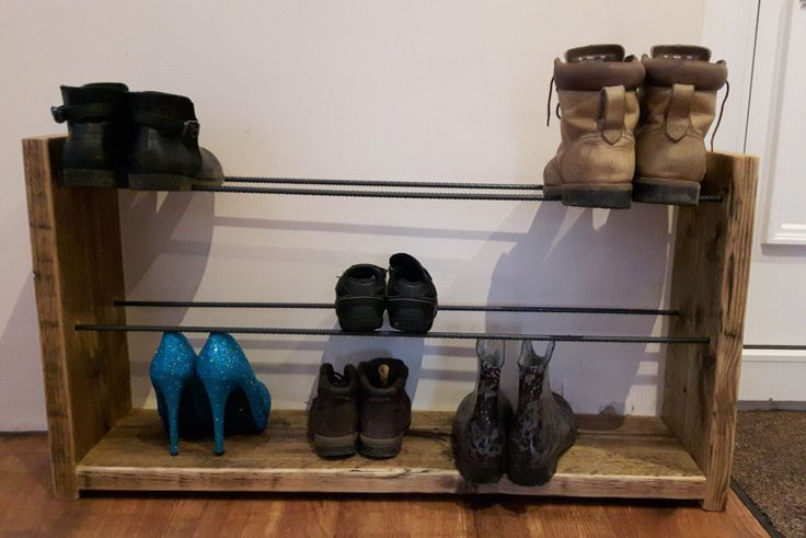 17 Best Ideas About Rustic Shoe Rack On Pinterest
