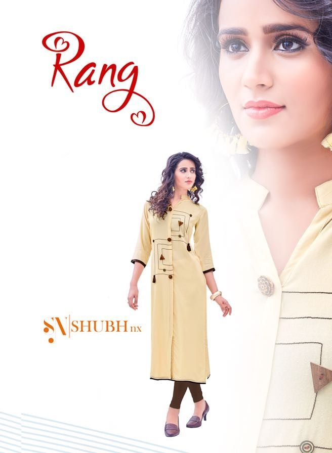c7a693a0d4 Rani Vol 1 by Shubh NX Long Straight Fancy Rayon with Digital Printed Patch  Readymade Kurtis at Wholesale Rate