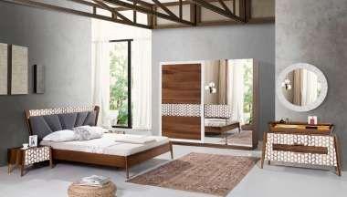 Cervo Ceviz Beyaz Yatak Odası    9800,0 TL