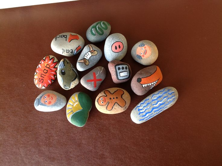 story stones (Gingerbread Man) to support a Talk for Writing approach. Just need varnish.