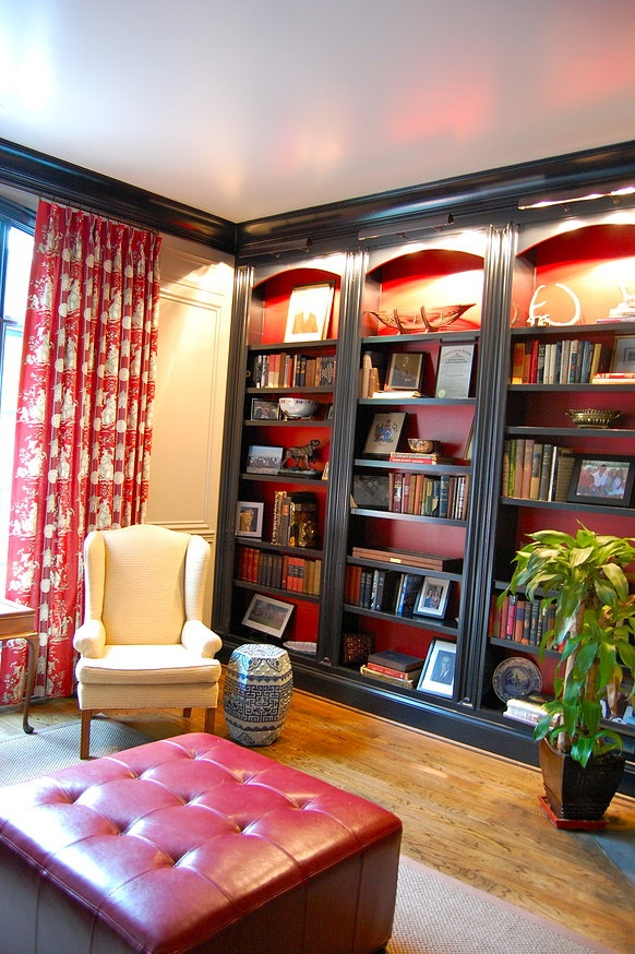 Katherine Connell Interior Design built in #bookshelves