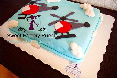 Pastel helicóptero Sweet Factory Puebla By Chef Luciana Proietti Cake´s Designer