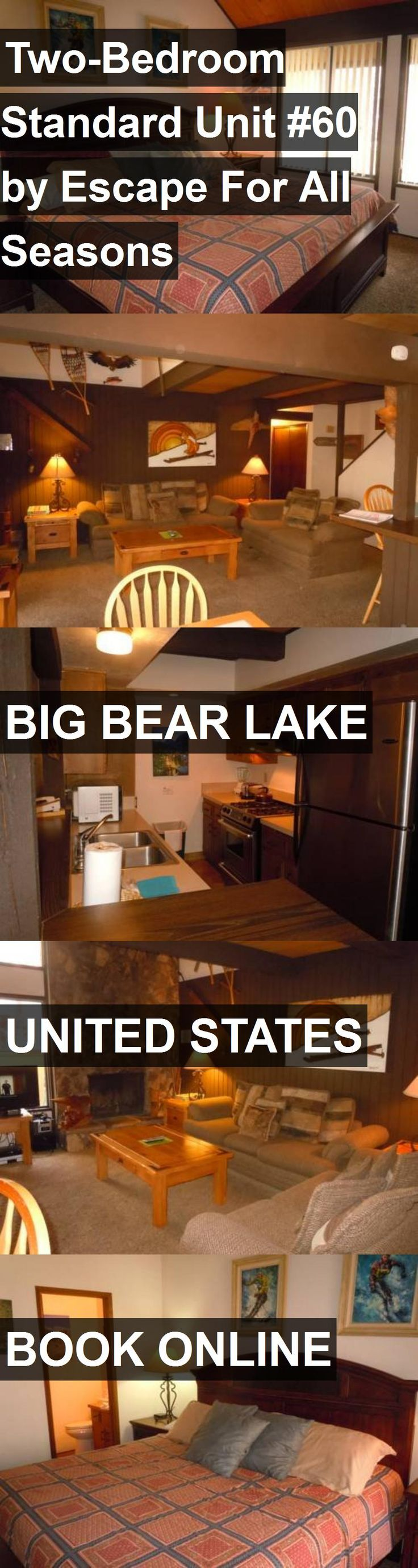 Hotel Two-Bedroom Standard Unit #60 by Escape For All Seasons in Big Bear Lake, United States. For more information, photos, reviews and best prices please follow the link. #UnitedStates #BigBearLake #travel #vacation #hotel