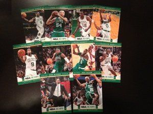 2012-13 NBA Hoops Boston Celtics Team Set 10 Cards Mint by Panini. $4.75. Mint condition cards from a broken up case. You get every card of the listed team in title from the 300 card base set, does NOT include the short prints. That means you get the following cards (this is a full and complete list): 1- Avery Bradley 2- Brandon Bass 3- Kevin Garnett 4- Paul Pierce 5- Rajon Rondo 6- Ray Allen 7- Doc Rivers 246- JaJuan Johnson 257- Greg Stiemsma 298- Rajon Rond...