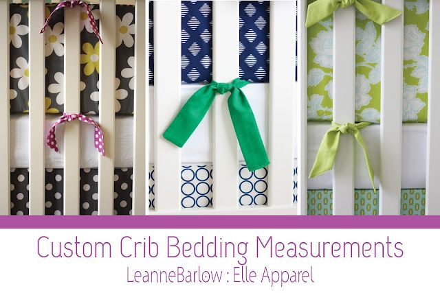 Crib bedding 101 - DIY tutorial info & measurements for making your own sheets, bumpers, and crib skirts.