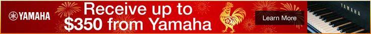 新年快乐! Celebrate the Chinese New Year up to a free $350 with the purchase of any new Yamaha upright or grand piano.