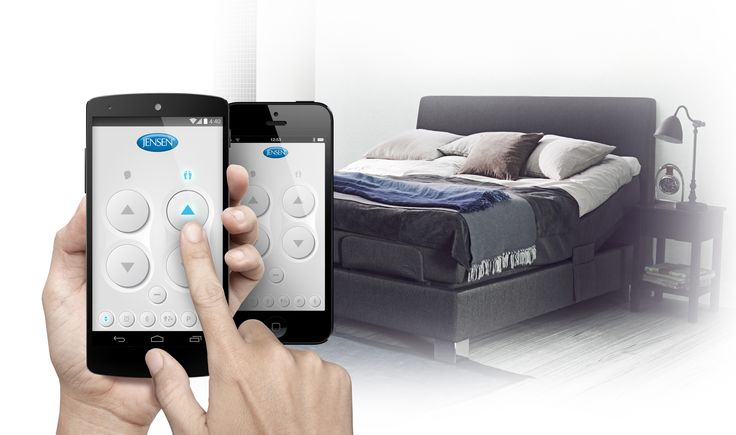 Adjust your bed with your phone. It's now easier than ever to adjust your Jensen adjustable bed. Our new app helps you select your favourite sleeping position.