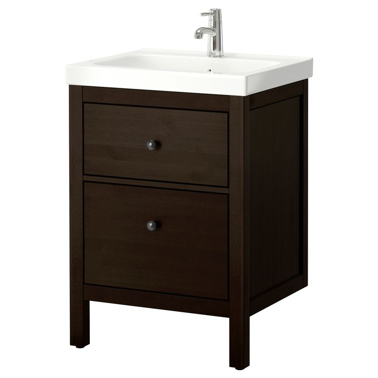 HEMNES / ODENSVIK Sink cabinet with 2 drawers...could fit two upstairs with a tower shelf in between, and two mirrors...