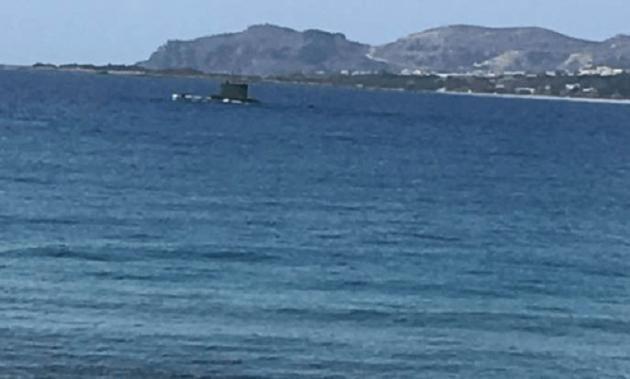 Παλαιόχωρα Κρήτη: Έκπληξη προκάλεσε η εμφάνιση υποβρυχίου του ΠΝ - ΦΩΤΟ