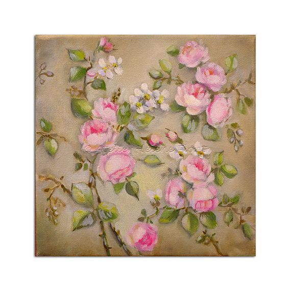 New line : The Tile roses collection - Original oil painting by Helen Flont - Tea rose