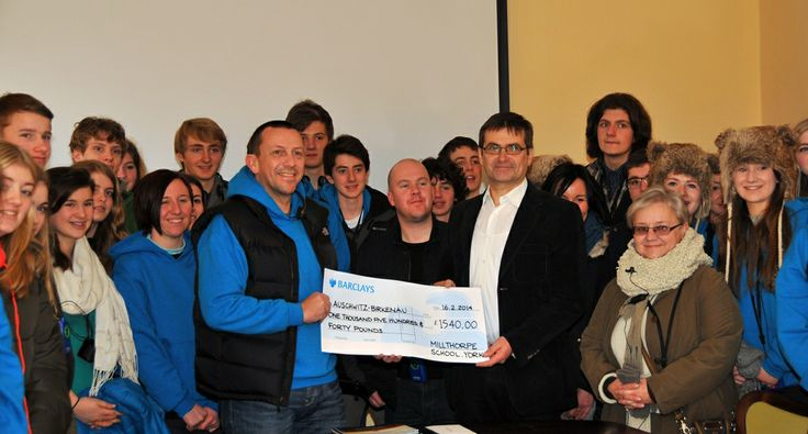 A group of students and teachers from Millthorpe School in York (UK) visited the Auschwitz Memorial on February 16 and made a donation of 1540 pounds. The money was raised during the Holocaust Remembrance Day this year. The group was welcomed by the deputy director Andrzej Kacorzyk.