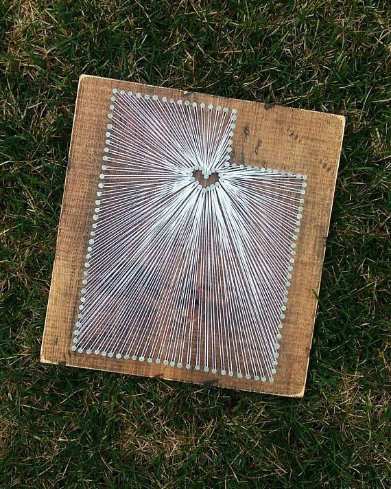 Utah String Art State String Art Utah Nail Art Rustic