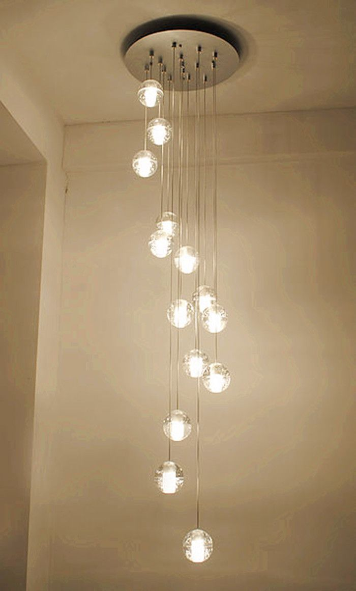 Find More Pendant Lights Information about 14 26 balls led stair lighting Novelty Crystal lamp pendant Lights penthouse long pendant lamp Led Lamparas hotel Staircase Lamp,High Quality lamp roof,China lamp table living room Suppliers, Cheap pendant lamp cable from sunny lighting on Aliexpress.com