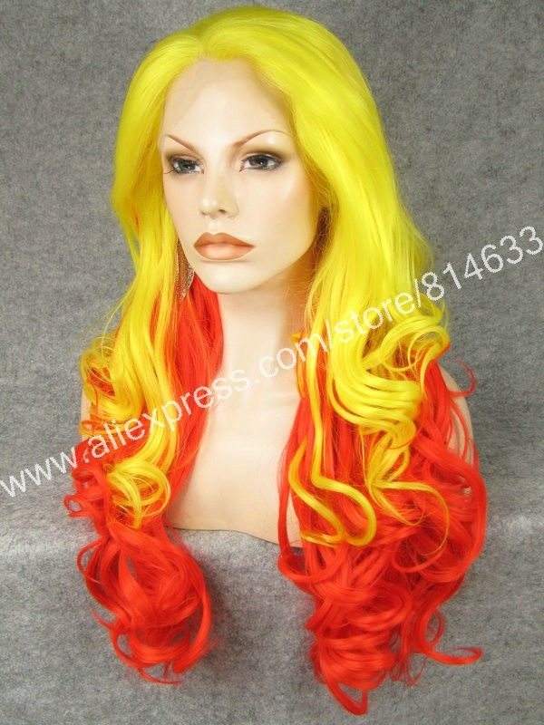 Two Tone Body Wavy Lace Front Heat Synthetic Hair   #synthetichair