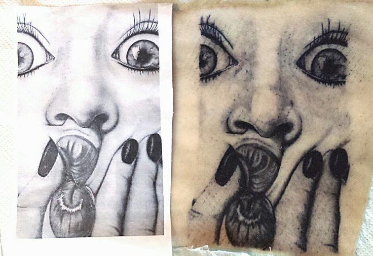 Portrait  #tattoo #blackandwhite  #face #girl