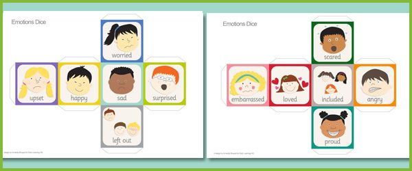 emotions dice, print out is also edit-able. This would be good for Writing or literacy centers. It could also be used to identify synonynms.