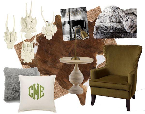 world market cowhide rug | ... pillow, cowhide, jute rug, table, chair, faux fur blanket, lamp