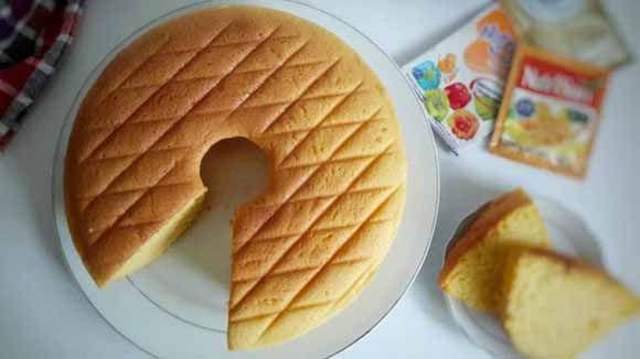 Cara Membuat Bolu Nurijell Nutrisari Tanpa Sp Rasa Jeruk Enak Dan Seger Seger Gimana Gituu Resep Makanan Kue