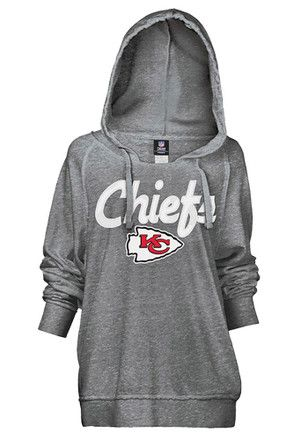 Kansas City Chiefs Womens Grey Pullover Hoodie
