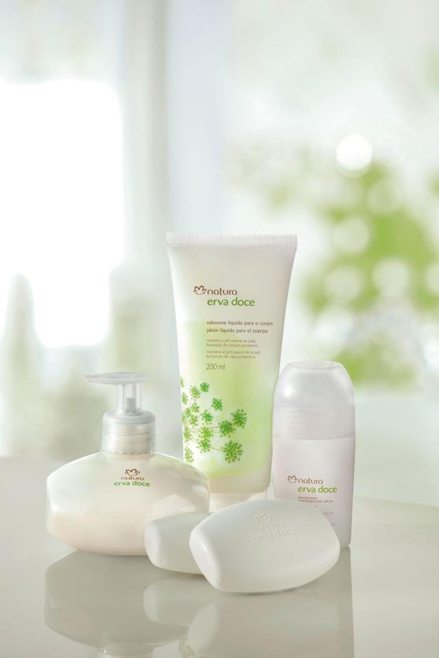 Línea Erva Doce Fórmulas aún más suaves, para el cuidado y protección de la piel. Con Ph natural y una delicada fragancia inconfundible.
