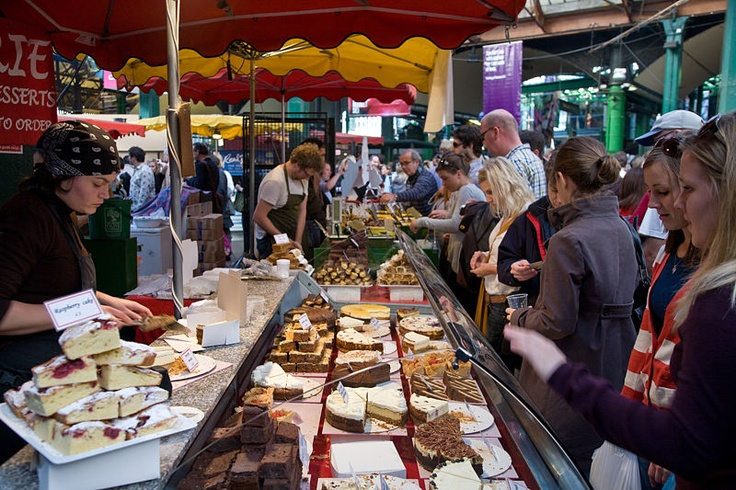 Borough Market, London's most renowned food market.: Street Marketing, Street Food, Food Marketing, Borough Marketing, Marketing Stalls, London Shops, Cakes Stalls, Marketing Cakes, Places