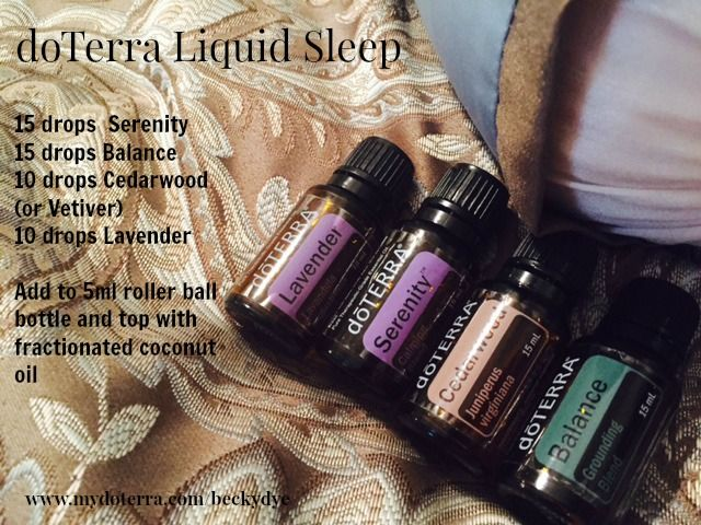 """I love this blend to help promote a better night's sleep.  I roll it on my wrists, the back of my neck and on the bottoms of my feet when I get in bed .    Zzzzzzz  Need these great essential oils on your bedside table?  Go to www.mydoterra.com/beckydye  to shop.  Or get 25% off by clicking on """"Join and Save"""" on my website."""