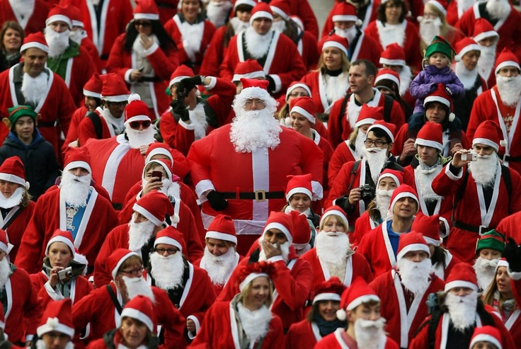 Hmmm.... one of these Santas is not like the others!