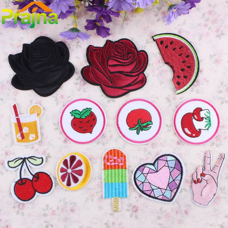 1PCS Heart Unicorn Rose Patch Pizza Cheap Embroidered Cute Patches Lip Iron On Kids Cartoon Patches For Clothing Jeans Applique #clothing,#shoes,#jewelry,#women,#men,#hats,#watches,#belts,#fashion,#style