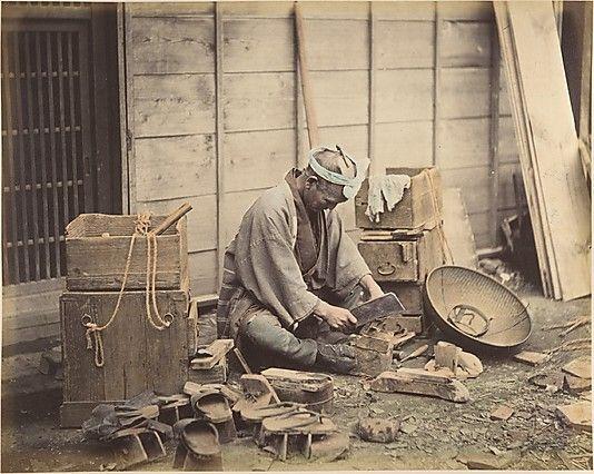 Cobbler Shinichi Suzuki (Japanese, 1835–1919) Date: 1870s Medium: Albumen silver print from glass negative
