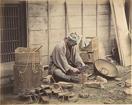 Cobbler Shinichi Suzuki (Japanese, 1835–1919) Date: 1870s Medium: Albumen silver print from glass negative