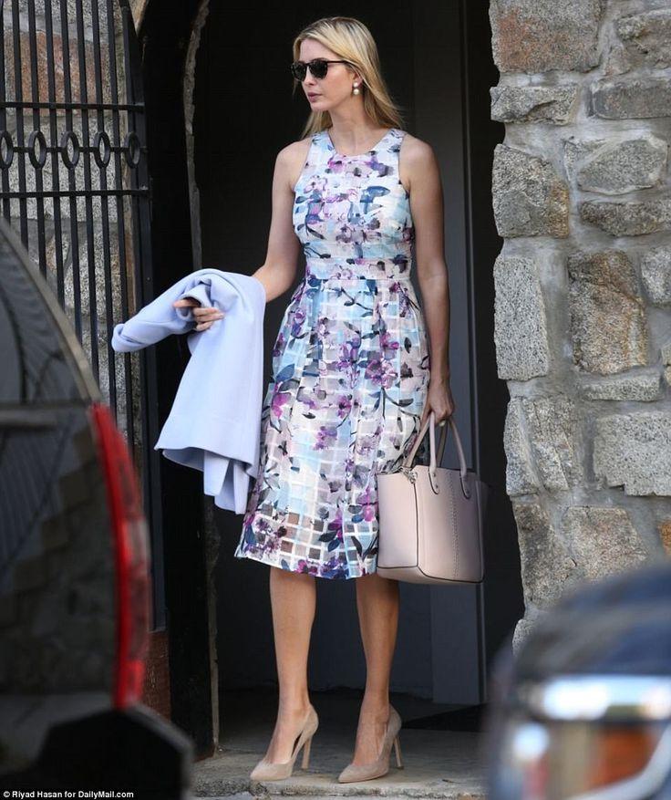Ivanka Trump steps out of her Kalorama, Washington D.C home...