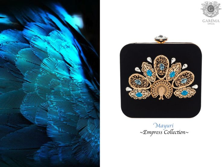 Shop the Gorgeous Mayuri Clutch inspired by a peacock at www.garemaofficial.com
