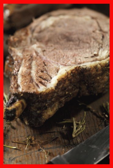 Beef rib roast with horseradish and herbs http://paleo-diets.com