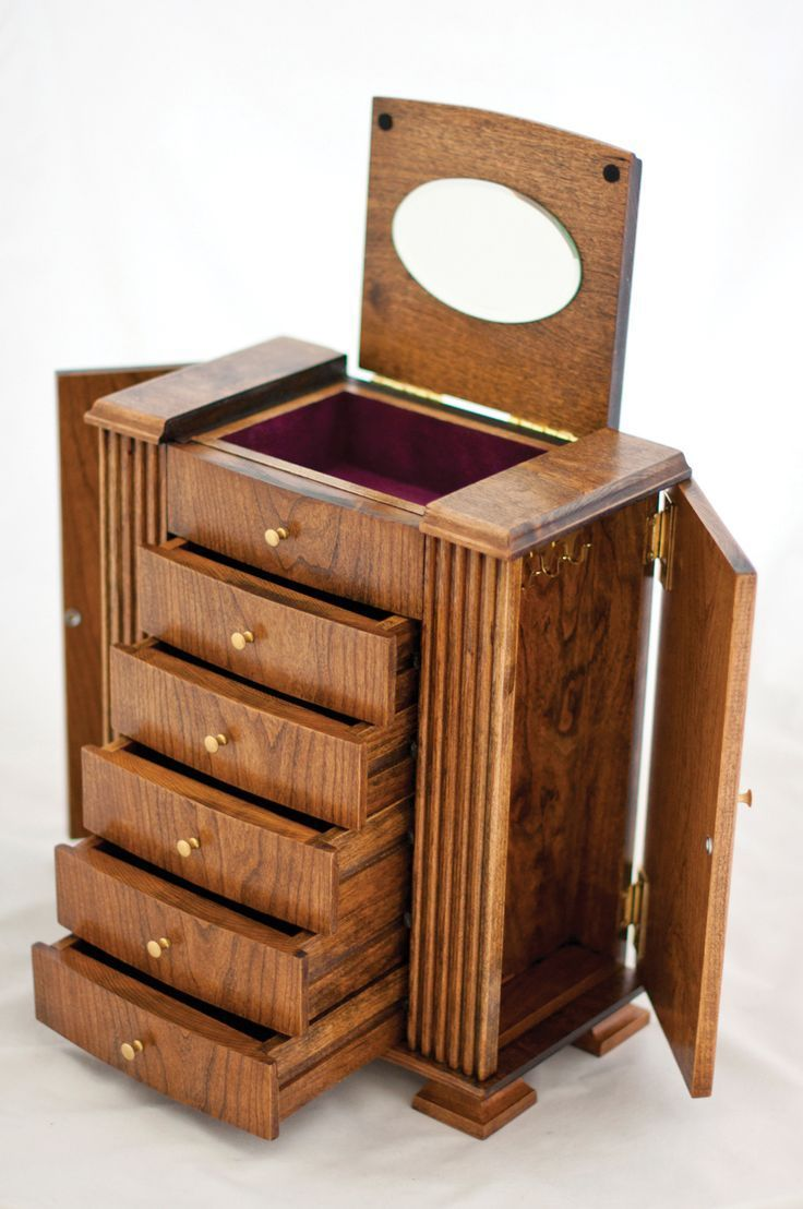 Cherry Wood Jewelry Box Mens Jewelry Pinterest Woods Box and