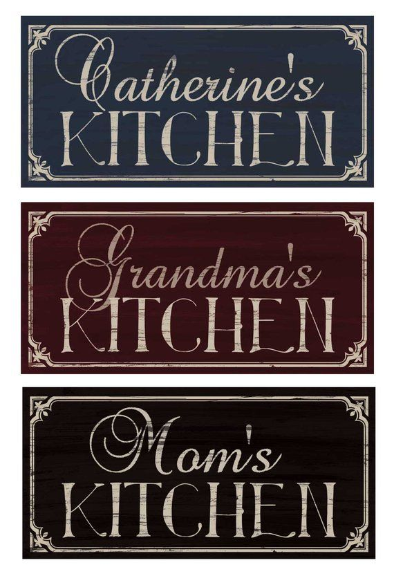 Rustic Kitchen Wall Decor Personalized Kitchen Signs Kitchen